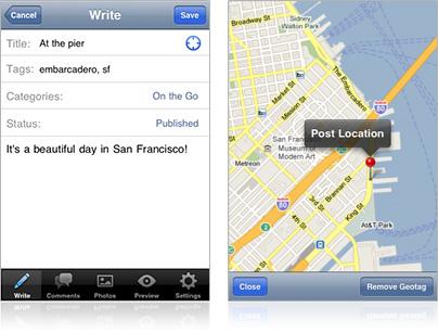 WordPress for iOS - Geo Location