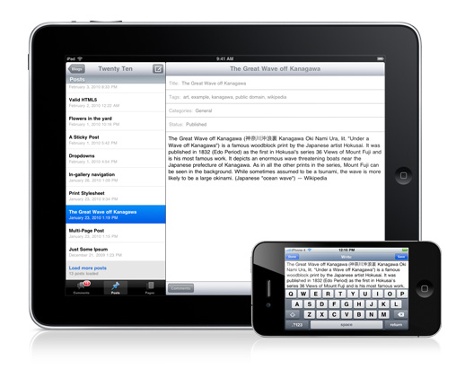 wordpress app voor iphone en ipad