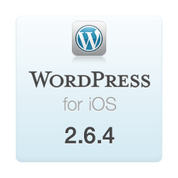 WordPress for iOS version 2.6.4 is now available in the App Store.