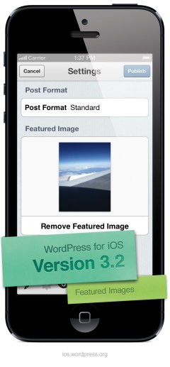 Version 3.2 of WordPress for iOS: Featured Image Support